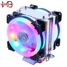 Wovibo Процессор кулер вентилятор охлаждения 3PIN 4Pin вентилятор бесшумный для Intel 775 1150 1151 1155 1156 1366 2011 X79 X99 AM3 AM4 радиатора