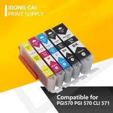 цена на PGI570 CLI571 PGI-570 CLI-571 Compatible Ink Cartridge For Canon PIXMA MG5750 MG5751 MG5752 MG5753 MG6850 MG6851 MG6852 PGI 570