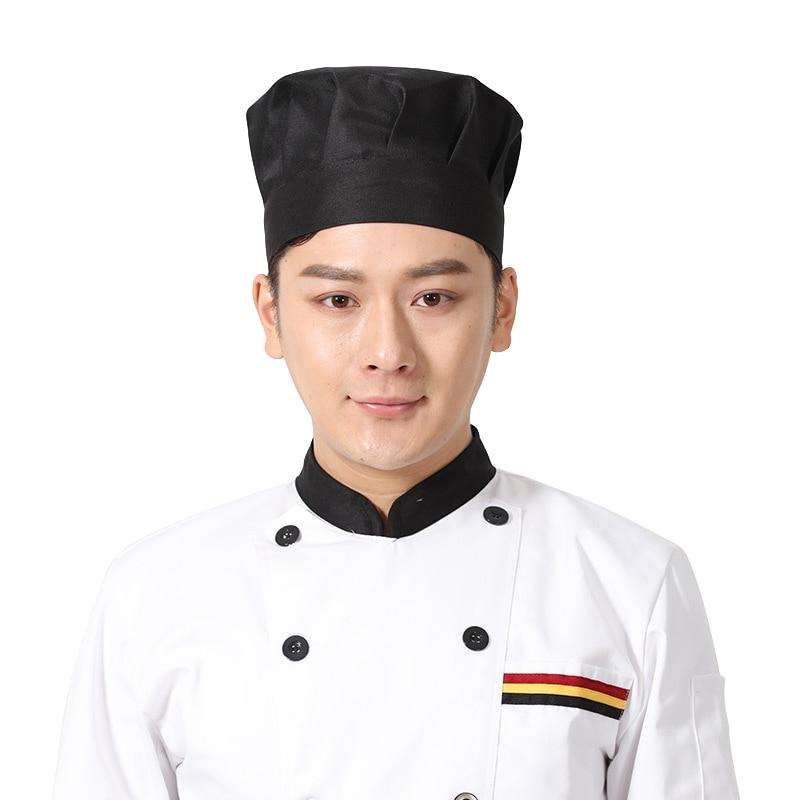 New Chef Hat for Men Women Chefs Uniforms Catering Cooking Hat Restaurant Kitchen Hotel Workwear Cafe Bar Waiter Chef Hat soccer-specific stadium