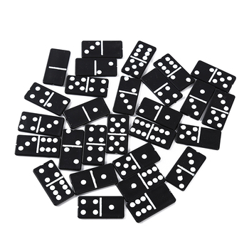 28pcs/set Plastic Domino Board Games Travel Funny Table Game Domino Toys Kid Children Educational Toys 1 Box for Children Gifts