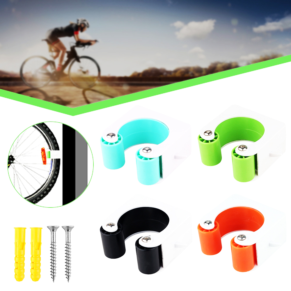 RANSHUO Bike Parking Buckle Indoor Bicycle Display Stands Portable Bike Storage Holder Wall Mount Hanger Space Saving,for Road Bikes And Mountain Bikes