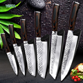 Кухонный нож 8 дюймов профессиональные японские ножи шеф-повара 7CR17 440C высокоуглеродистая Нержавеющая сталь нож для резки мяса Santoku