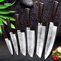Cuchillo de cocina 8 pulgadas cuchillos de Chef japonés profesional 7CR17 440C de alto carbono de acero inoxidable cortador de carne cuchillo Santoku