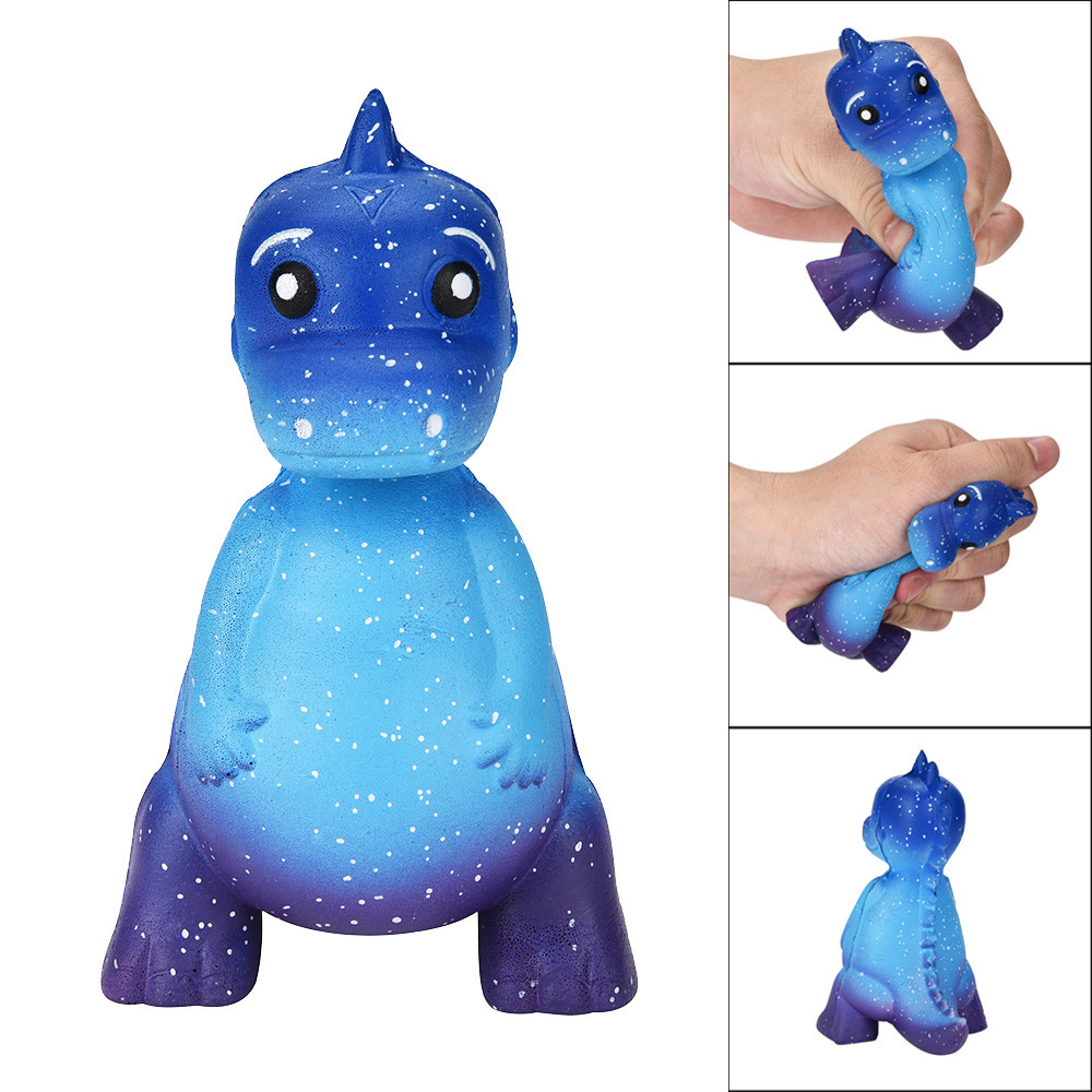 Galaxy Dinosaur Rex Squishy Jumbo Scented Cream Super Slow Rising Squeeze Toys Children Fun Playing Game Toy Baby Boy Girl Toys