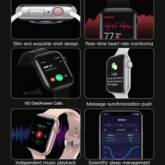 Smart Watch Men Smartwatch Women Dial Call Watch Waterproof Fitness Tracker Music Control 2021 For Iphone Xiaomi Huawei IWO+gift 4
