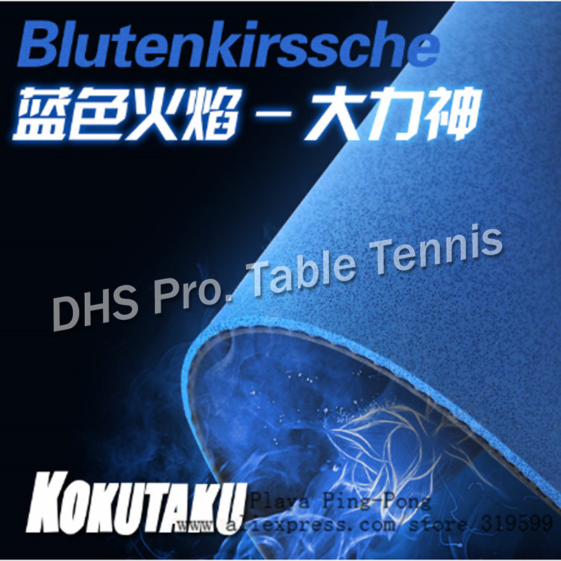 KOKUTAKU Original Blutenkirssche Blue Sponge Pimples In Table Tennis Rubber Ping Pong Sponge For 40mm+ Tenis Tenis De Mesa