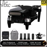 WLRC fede 2 GPS Drone 4k professionale 3 assi Gimbal EIS Camera Quadcopter 35 minuti tempo di volo 5KM trasmissione FPV per il nuovo utente
