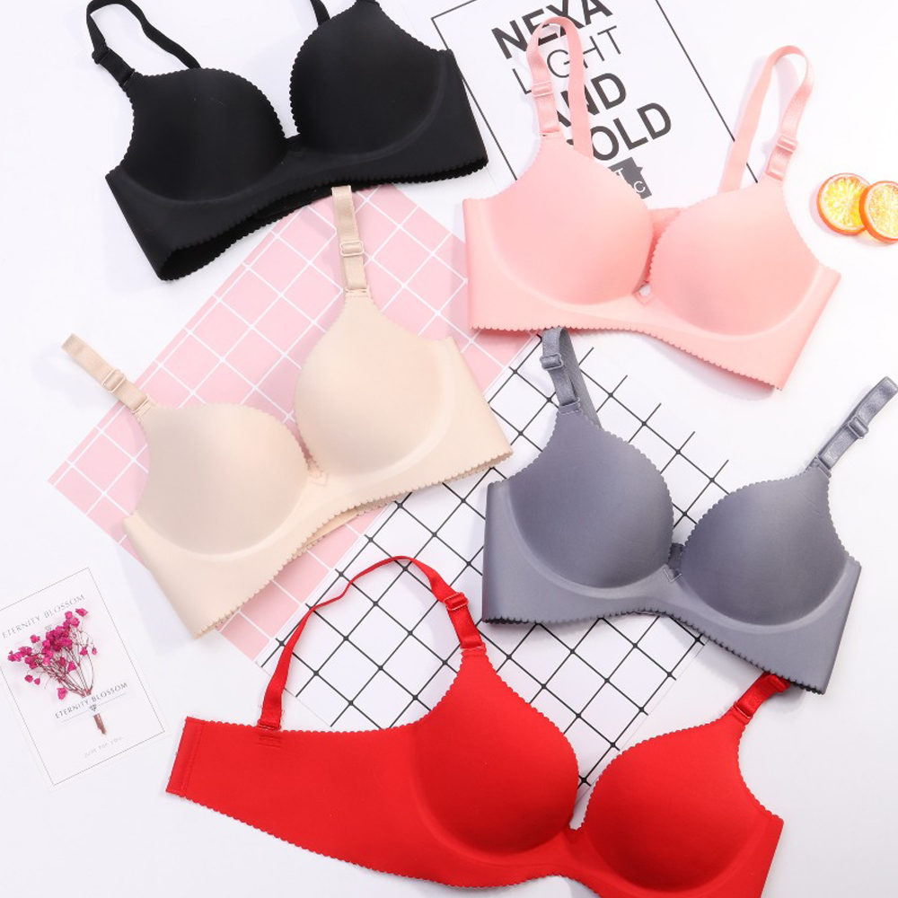Sexy Deep U Cup Bras For Women Push Up Lingerie Seamless Bra Wire Free Bralette Backless Underwear Plunge Female Intimates