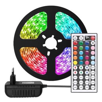 RGB LED Strip Light 2835 / 5050 SMD Flexible Ribbon fita led light strip RGB 5M 10M Tape Diode DC 12V Remote Control Adapter