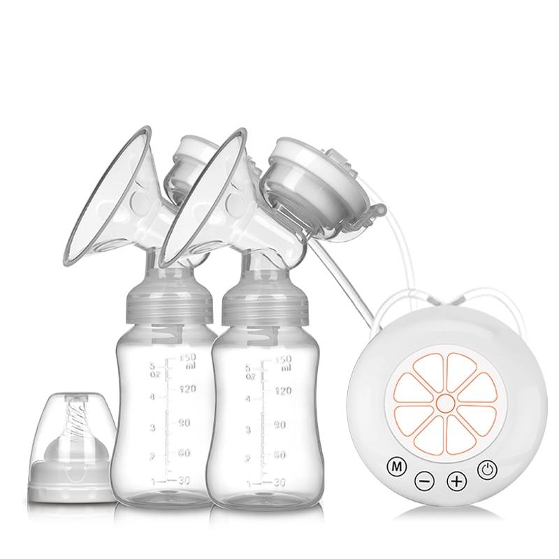 Double Breast Pump Electric Milk Pumps Baby Bottle Postnatal Powerful Suction Milk Extractor USB Newborn Breastfeed MBG0475