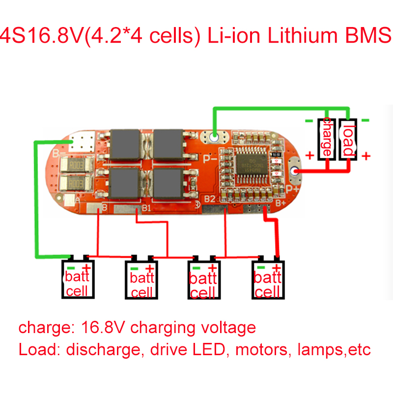 BMS 1S 2S 3S 4S 5S 10A 25A 18650 Lto Li-ion Lipo Lithium Battery Protection Module Circuit Balance Balancer Equalizer Board