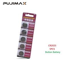 PUJIMAX CR2025 5 pz/pacco calcolatrice batteria del tasto della vigilanza DL2025 BR2025 telecomando 3V batteria a Bottone al litio usa e getta