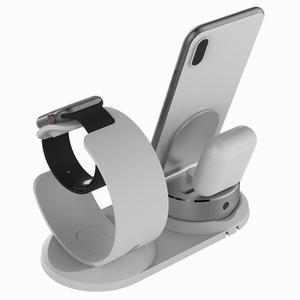 Image 5 - 4 in 1 DIY masa Apple için şarj Dock standı standı masa şarj telefon tutucu istasyonu iPhone X/8P/7/6/SE şarj Airpods için