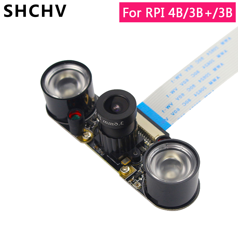 Raspberry Pi 4 Night Vision Camera Raspberry Pi 3 5MP 1080P Focal Adjustable Camera For Raspberry Pi 4 3 Model B 3B Plus 2B