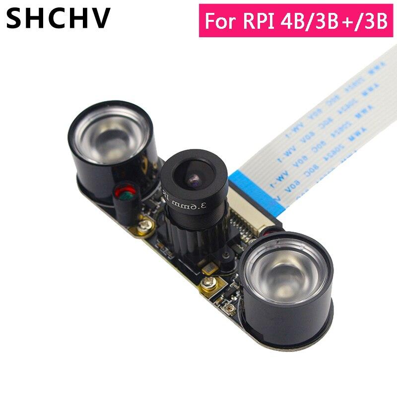 Raspberry Pi 4 Night Vision Camera Raspberry Pi 3 5MP 1080P Focal Adjustable Camera For Raspberry Pi 4 3 Model B 3B Plus 2B