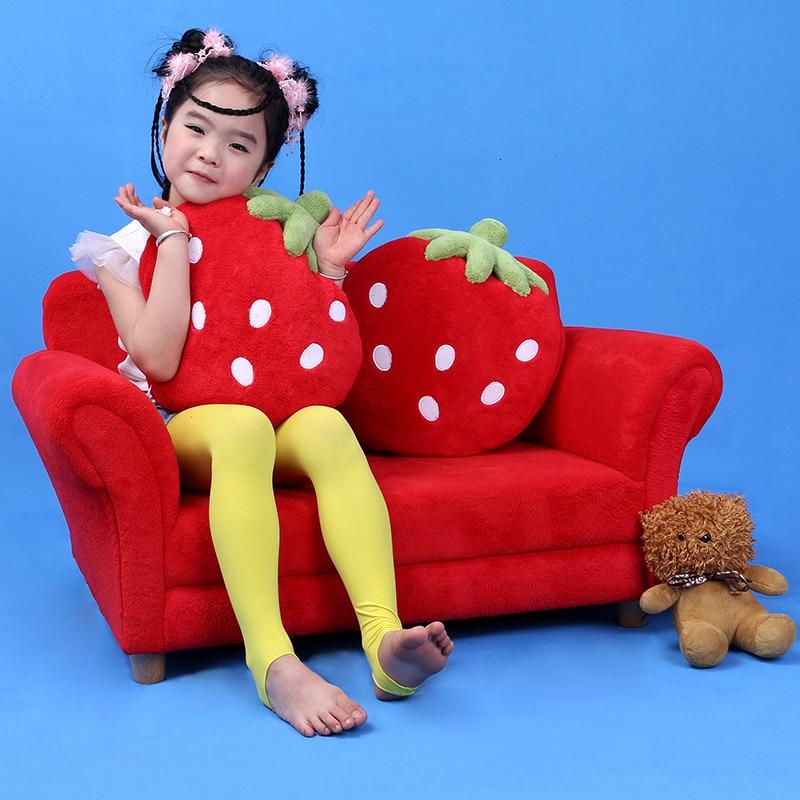 Modern Korean Style Tatami Group Close Baby Small Sofa Kids Sofa Lovely Cartoon Fabric Art Strawberry Sofa Red Zitzak Bean Bag