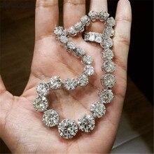 Handmade 925 Sterling Silver Tennis Bracelet Diamond Bracelets