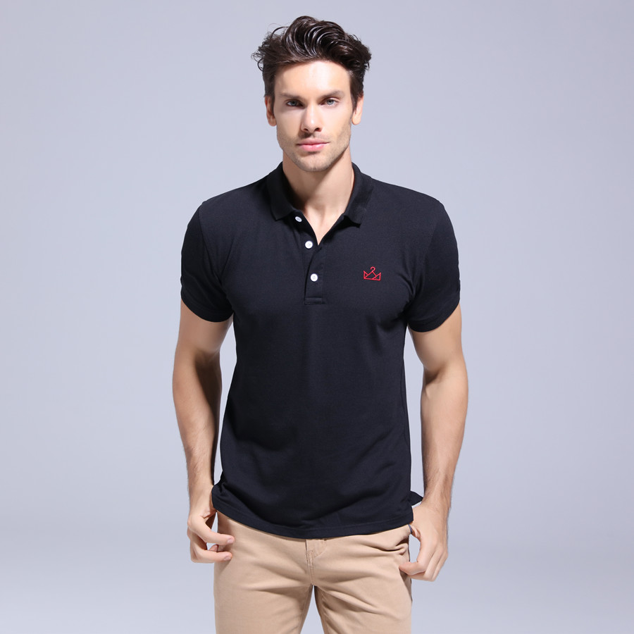 Dropping 2019 New   POLO   Shirt Men Embroidery Short Sleeve Male   POLO   Shirts Turn-down Collar Casual   POLO   Men