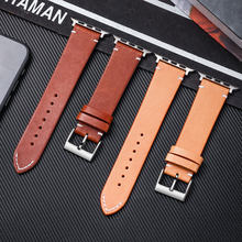 FUYIJIA 2019 New oil wax watchbands for apple watch1/2/3/4 smart watch belt leather strap stainless steel pin buckle(China)