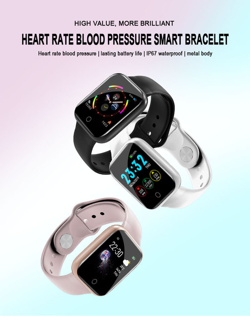 I5 Smart Bracelet Band With Heart Rate Monitor Unisex Watches / Sunglasses / Caps color: Black|Pink|White