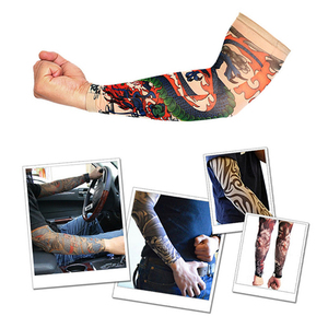 2 Pcs Fashion Outside Hiking Riding Anti Sun Tattoo Sleeves Arm Stockings Tattoo UV Sun Protection Driving Arm Sleeves