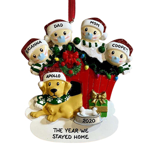 Quarantine Survivor Personalized Survived Family Ornament 2020 Christmas Holiday Decorations