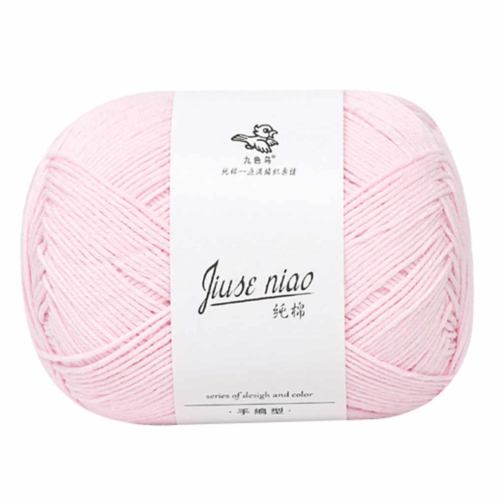 9 cores fio de crochê leite fio de algodão fio de lã do bebê para tricô crianças mão malha fio cobertor de malha brinquedo diy cachecol linha