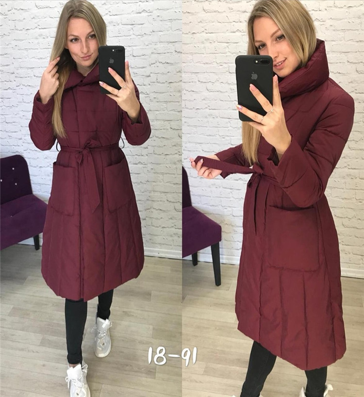 2019 Spring New Style Stand Collar Mid-length Cotton Coat AliExpress EBay