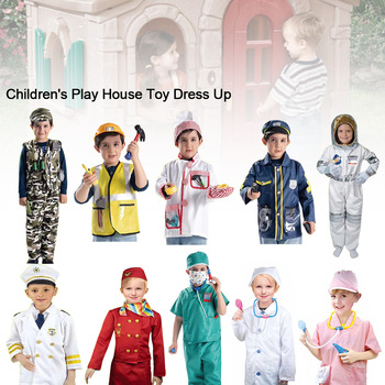 11 Styles Of Professional Role-playing Costumes Party Game Costumes Festival Cosplay Costumes Children #8217 s Game Costumes tanie i dobre opinie MINOCOOL Europa certyfikat (CE) 2-4 lat 5-7 lat 8 ~ 13 Lat Zawodów Play House Cosplay 11PCS Children Pretend Toy Doctor Lawyer Police Play House Cosplay