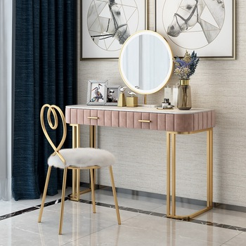 Мраморный туалетный столик для спальни, современный минималистичный столик для маленькой квартиры в скандинавском стиле, туалетный столик...