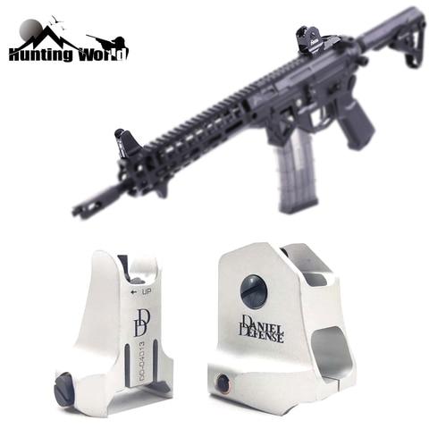 dd tatico fixo frente traseira ferro siht conjunto de backup rapido rifle ferro vista para