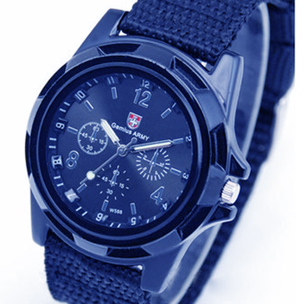 Brand New Men Quartz Watch Army Soldier Military Canvas Strap Fabric Analog Wrist Watches Sports Wristwatches Clock