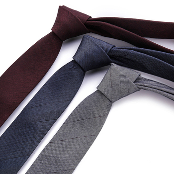 Fashion Mens Colourful Tie Luxury Necktie Solid Color Narrow 6 cm Slim Skinny Woven Neckties Gift
