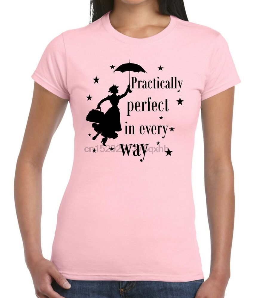 Mary Poppins Practically Perfect In Every Way Ladies fitted LongLine Hoodie