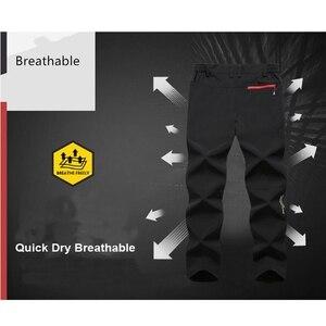 Image 3 - Мужские походные брюки размера плюс, 6XL, новые, летние, популярные, для пеших прогулок, рыбалки, кемпинга, скалолазания, бега, большие, водонепроницаемые, уличные штаны