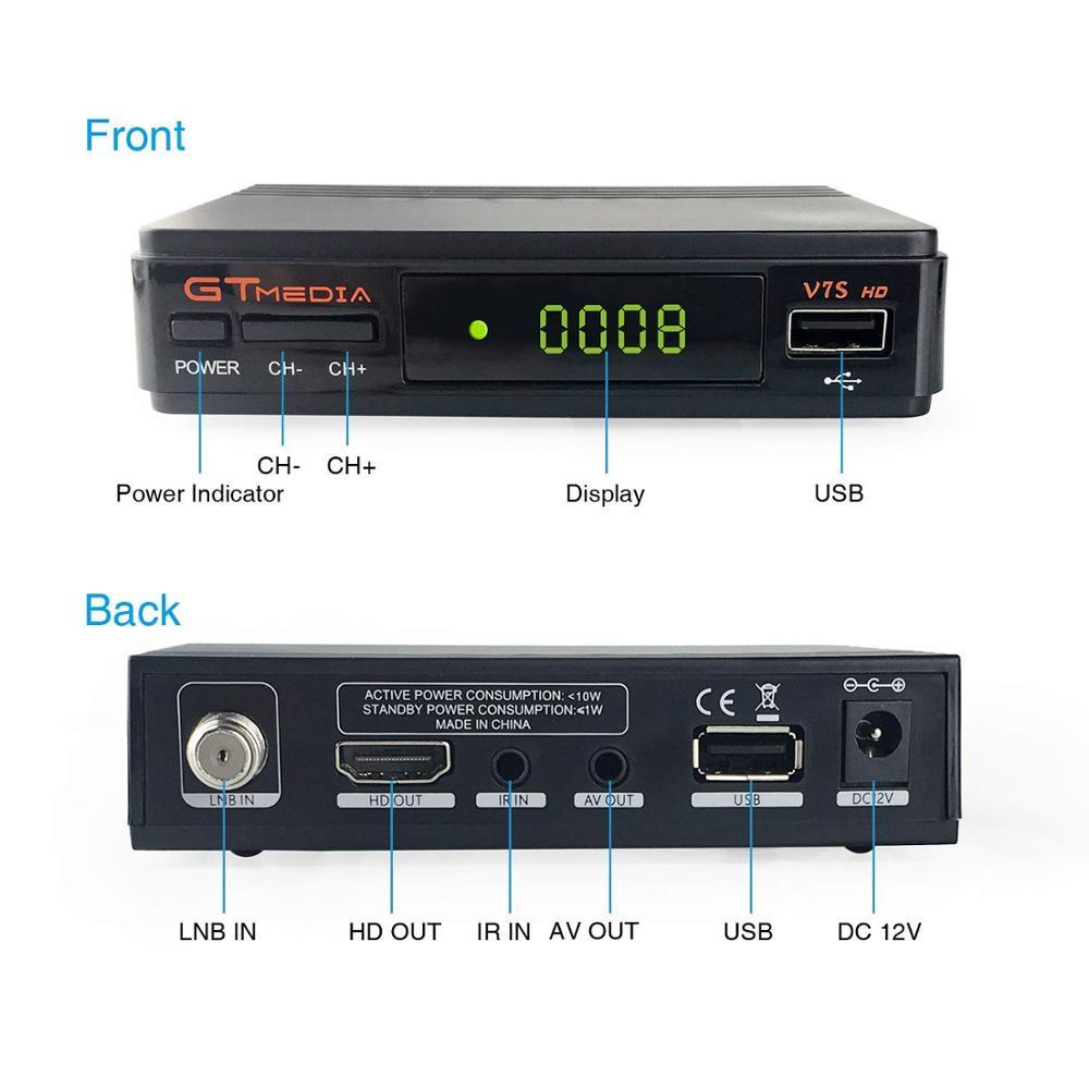 1 an Europe canal serveur récepteur Satellite V7S HD DVB S2 LNB TV Tuner récepteur 1080P pologne espagne TV décodeur + USB WIFI - 4
