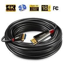 Cavo compatibile HDMI in fibra ottica Lungfish 2.0 4k 60HZ HDR per proiettore TV Box HD cavo lungo PS4 5m 10m 15m 20m 30m 50m