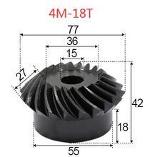2 шт 4 м-18 Прорезыватель внутреннее отверстие: 15 мм прецизионная спиральная коническая шестерня 0,78 г