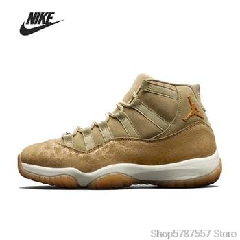 Nike Air Jordan 11 Retro Neutral Olive GS Men High-top Basketball Shoes Men's Basketball Sneakers Jordan Shoes Women AR0715-200