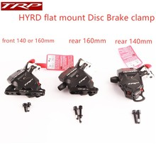 TRP HY/RD 140mm 160mm flat Mount clamp Actuated Hydraulic Disc Brake front rear Caliper  Set HYRD ROAD MTB Caliper disc brake caliper mount adapter is post front 160mm rear 140mm for shimano hayes mtb