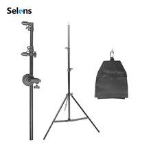 """Foto Studio Halter Halterung Swivel Kopf Reflektor Arm Unterstützung 27 """" 72""""/70 185cm Foto studio Ausrüstung mit 2m Stativ Sandsack"""