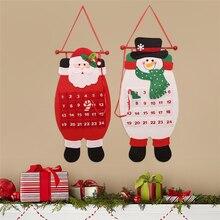 Ornament Christmas-Calendar for Home Santa-Claus Snowman Natale Advent Navidad