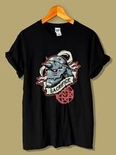Newest 2019 T Shirt Men O Neck Cotton T-Shirt Full Metal Alchemist Alphonse Elric New Street Wear Printing