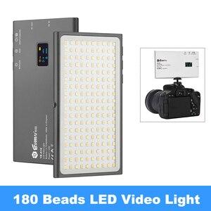 Image 1 - YB K10 LED Video ışık 12W cep boyutlu kamera LED Video ışığı 180 boncuk fotoğraf lamba ile montaj sony Nikon DSLR