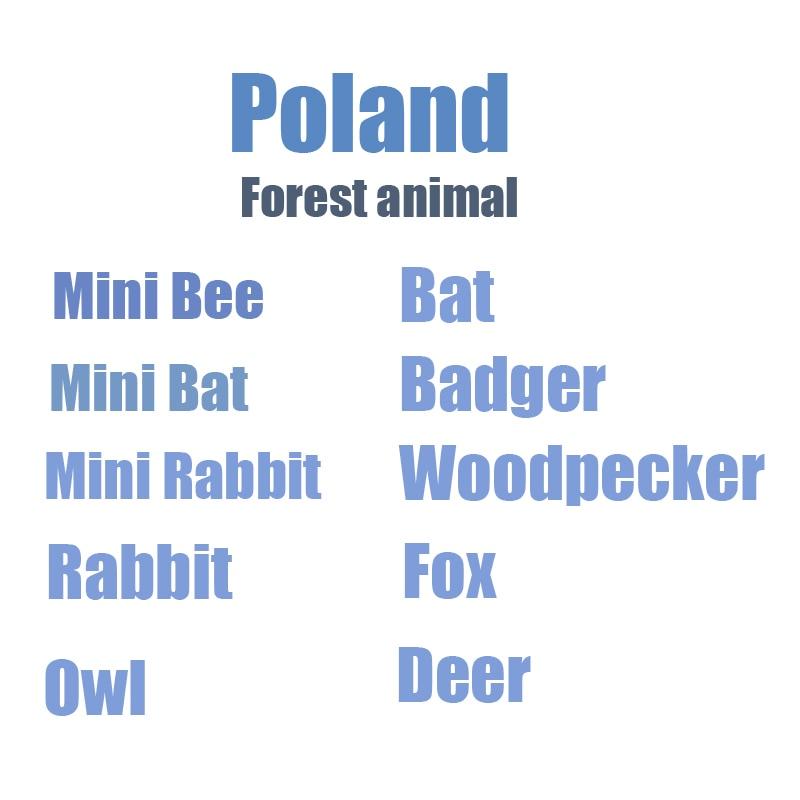 Funny Sweetie Forest Animal Plush Toy Mini Rabbit Owl Fox Woodpecker Bat Deer  Bear Stuffed Dolls Kids Christmas Birthday Gift
