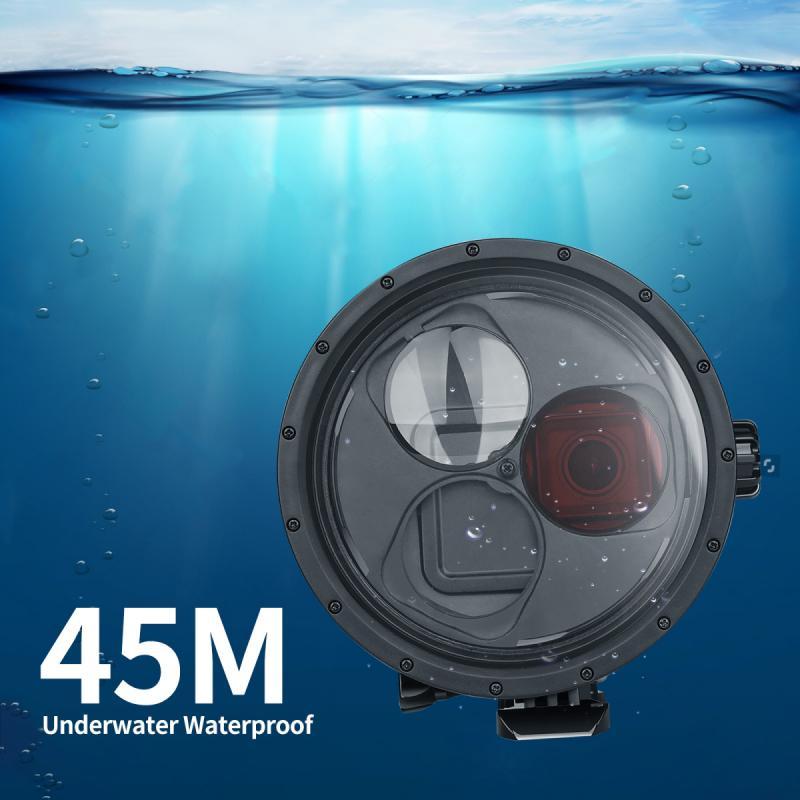 Новый Универсальный Водонепроницаемый Чехол для дайвинга на открытом воздухе, купольный порт, водонепроницаемый корпус, чехол для GoPro Hero 7 6 5, водонепроницаемый чехол|Чехлы для экшн-камер|   | АлиЭкспресс