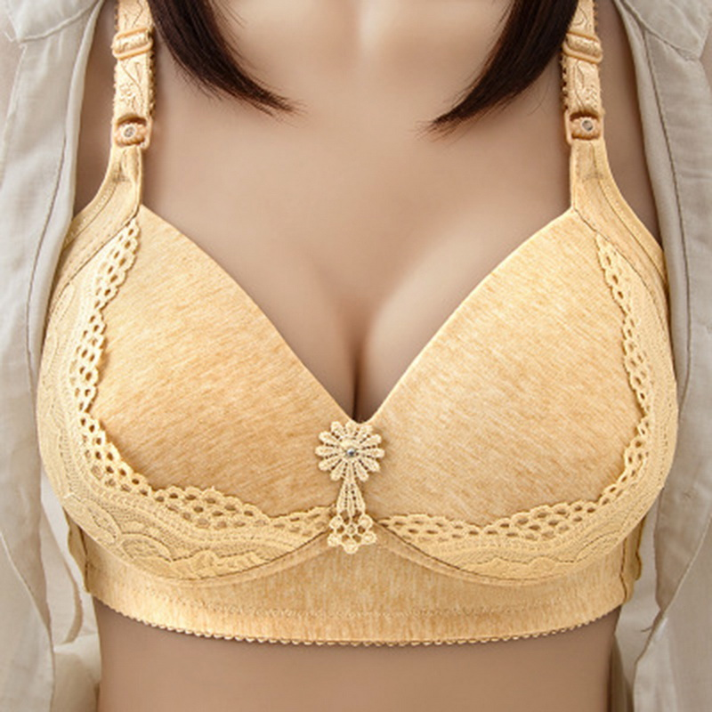 Women Large Size Bralette Thin Wire Free Seamless Sexy Lace Bras Comfort Underwear Push Up Lingerie Ladies Intimates Bra 4