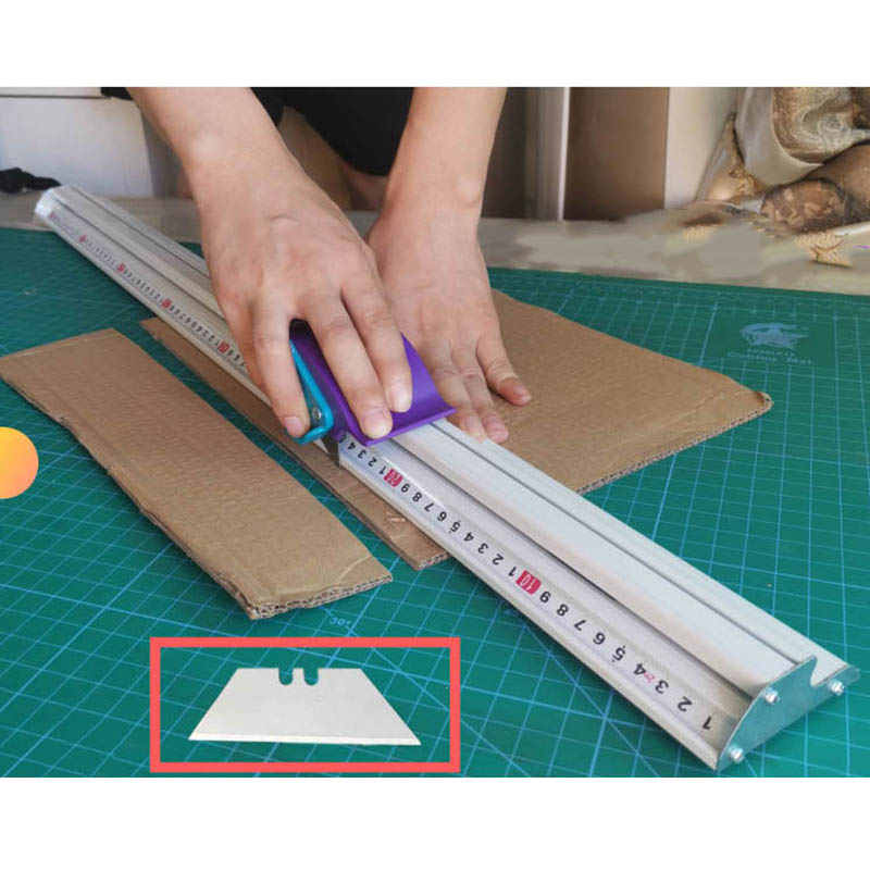 For Kt Board Pvc Board Manual Cutting Ruler Aluminum Alloy Anti-skid Positioning Cutting Ruler Cutting Track Woodworking Tool