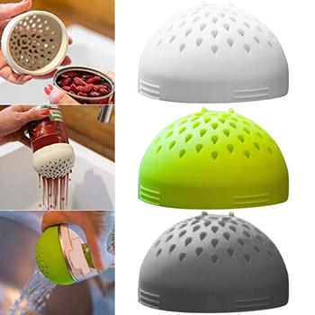 Creative Silicone Kitchen Colander Filter Multi-purpose Micro Drainer Fast Fuss-free Cooking Kitchen Cleaning Tool image