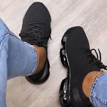 Femmes Respirant Maille Sneaker 2021 Femme À Lacets Vulcanisées Confortables de Dames Femmes décontracté Plat Femmes Chaussures De Sport Grande Taille